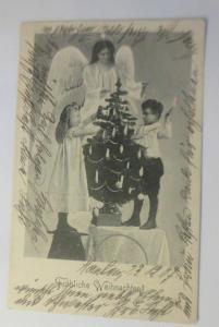 Weihnachten,  Kinder, Christkind, Weihnachtsbaum, 1900 ♥  (8045)