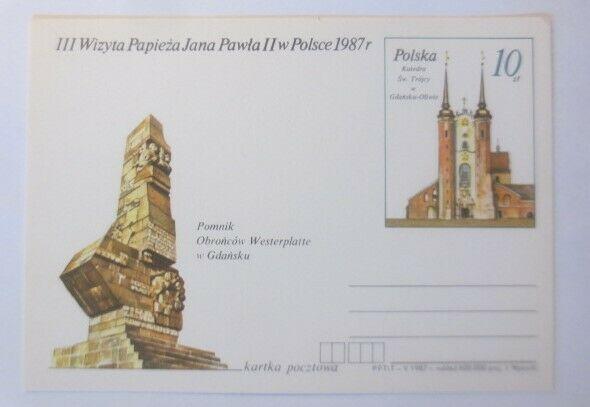 Polen Sonderganzsache Papst Johannes  Paul II,   1987 ♥ (69443) 0