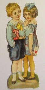 Oblaten, Kinder,  1900,   10,5 cm x 3,5 cm ♥