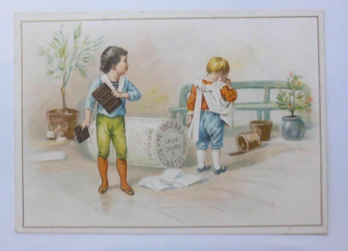 Kaufmannsbilder, Ph. Suchard, Cacao Soluble, Kinder, Streiten,  1910 ♥ 0