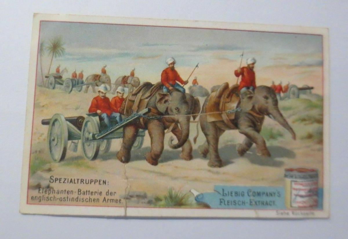 Liebig, Serie 38, Spezialtruppen, Elefanten-Batterie 0
