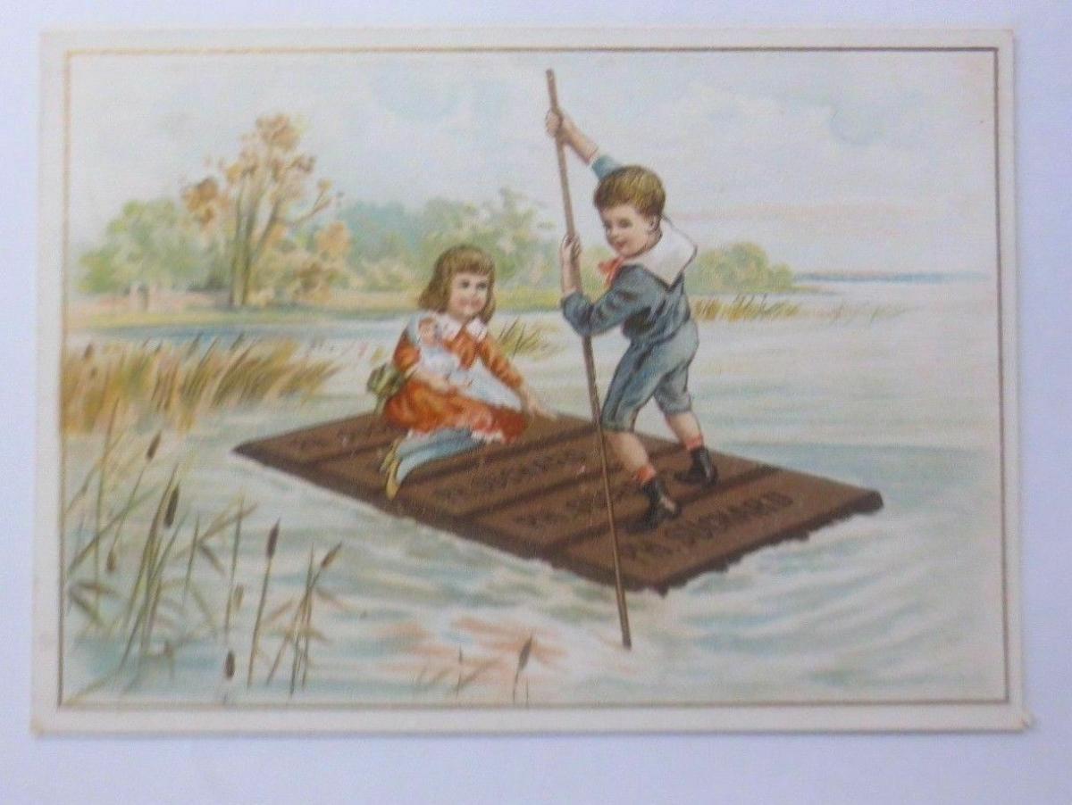 Kaufmannsbilder, Ph. Suchard, Cacao Soluble, Kinder, Floss,  1910 ♥ 0