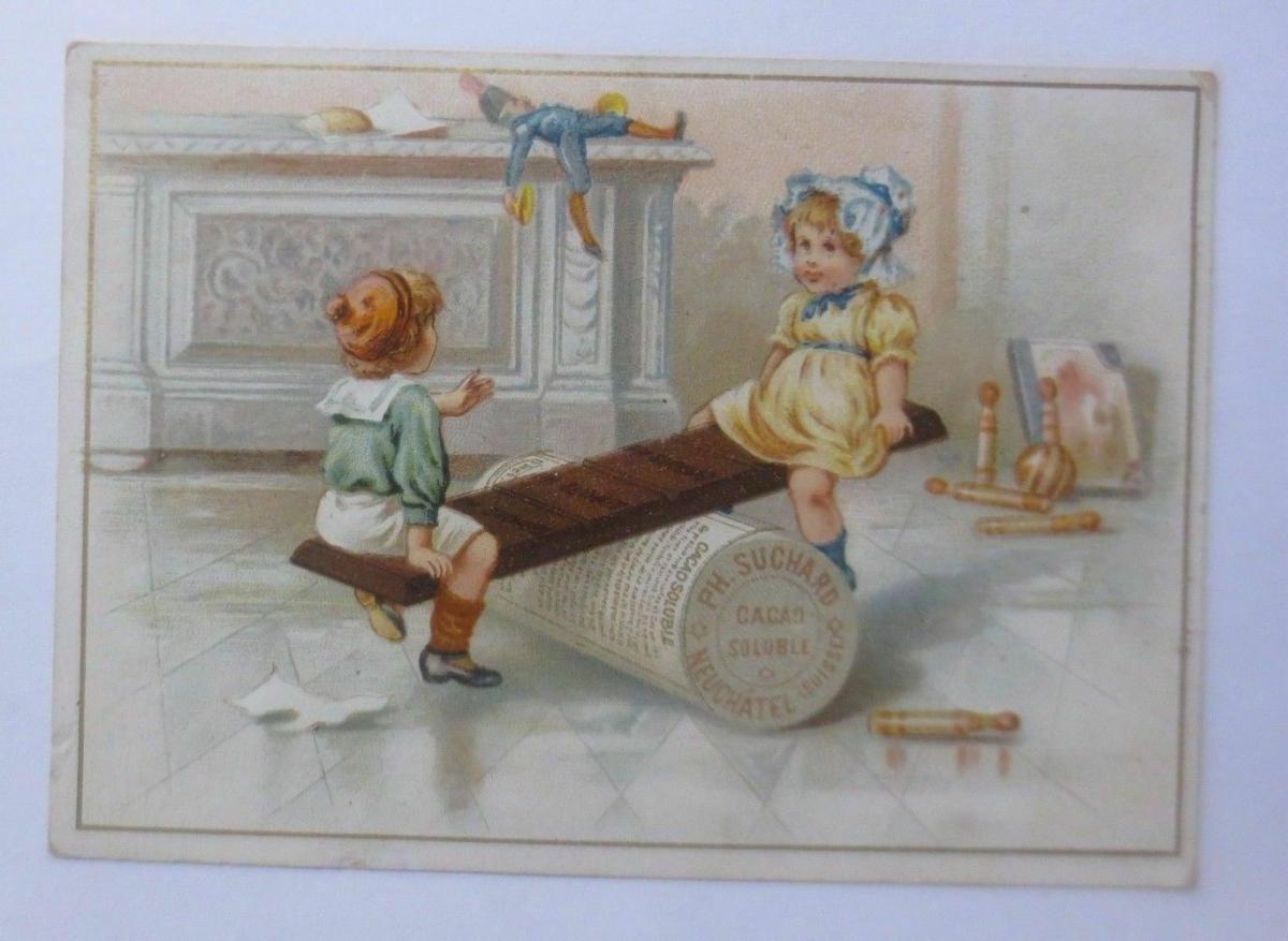 Kaufmannsbilder, Ph. Suchard, Cacao Soluble, Kinder, Wippen,  1910 ♥ 0