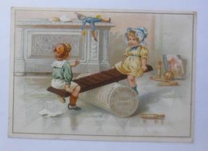 Kaufmannsbilder, Ph. Suchard, Cacao Soluble, Kinder, Wippen,  1910 ♥