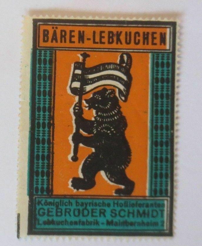 Werbung, Reklame, Vignette, Bären-Lebkuchen, Gebr. Schmidt Bayern ♥ (70027) 0