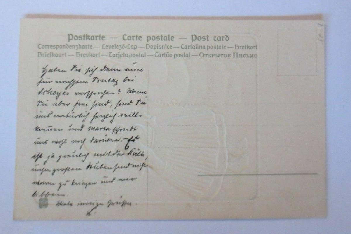 Weihnachten, Kinder, Schneemann,   1907, sig. EP.   Prägekarte  ♥ (67155) 1