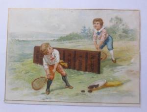 Kaufmannsbilder, Ph. Suchard, Cacao Soluble, Kinder, Tennis,  1910 ♥
