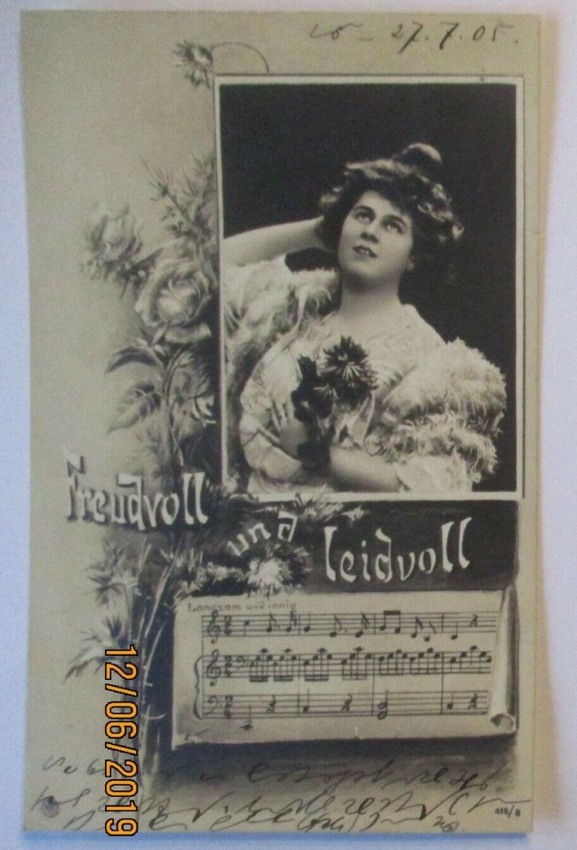 Musik Frau Lied, Freudvoll und Leidvoll 1905 (49055) 0