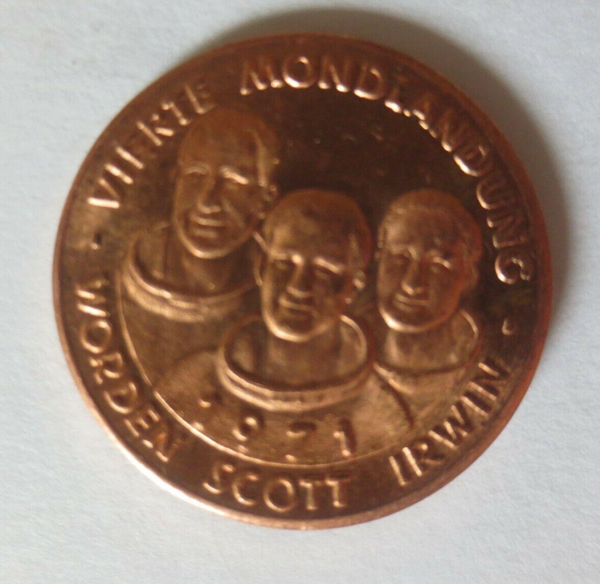 Medaille 1971 Deutschland Apollo 15 - Raumfahrt - Scott - Worden - Irwin♥(46373) 0