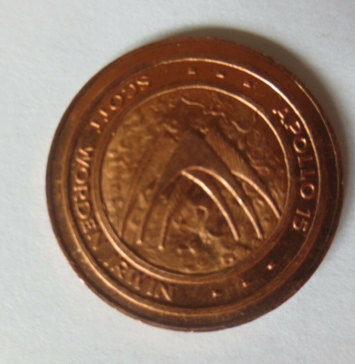 Medaille 1971 Deutschland Apollo 15 - Raumfahrt - Scott - Worden - Irwin♥(54253) 1