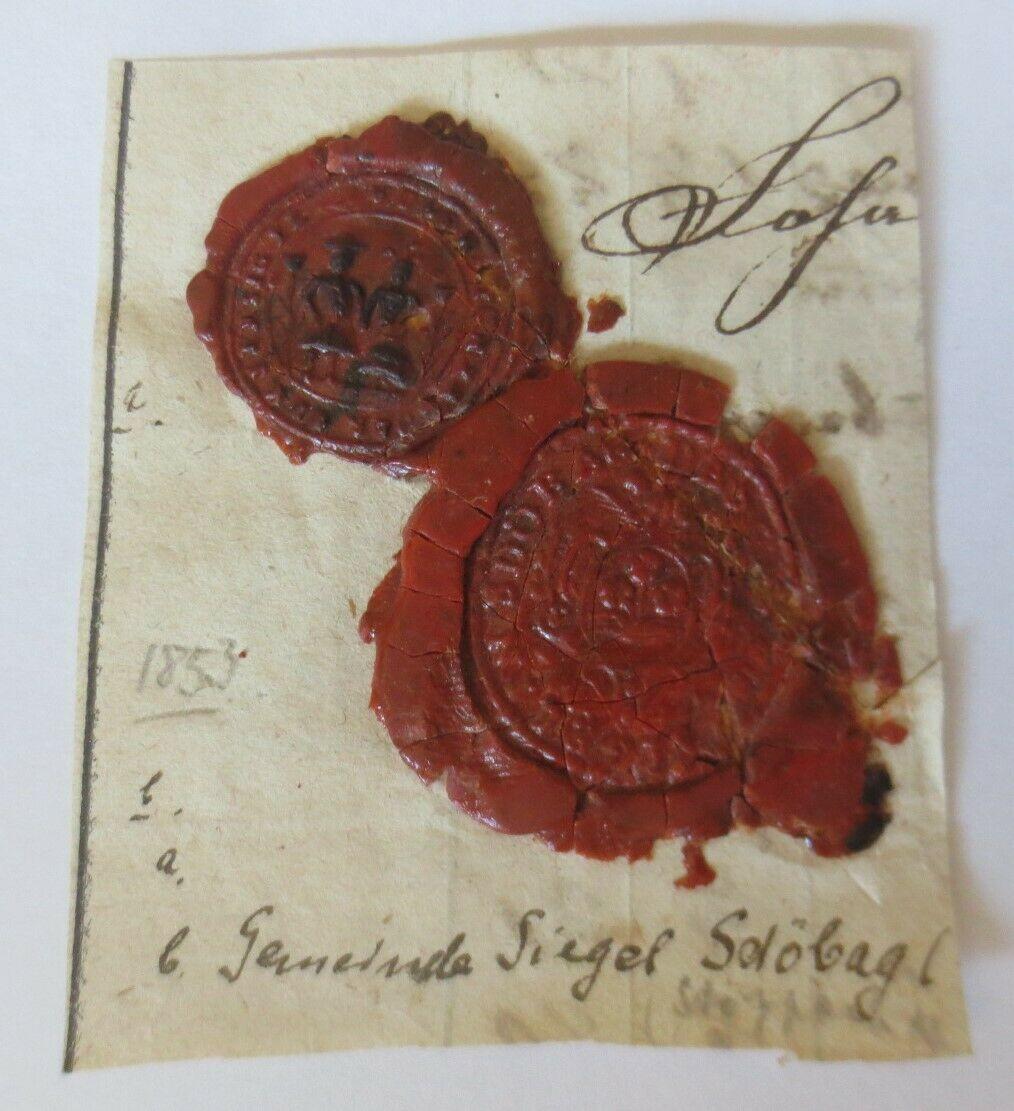 Siegelmarke, Gemeinde Siegel Stöppach Coburg  1853  ♥   (28513) 0