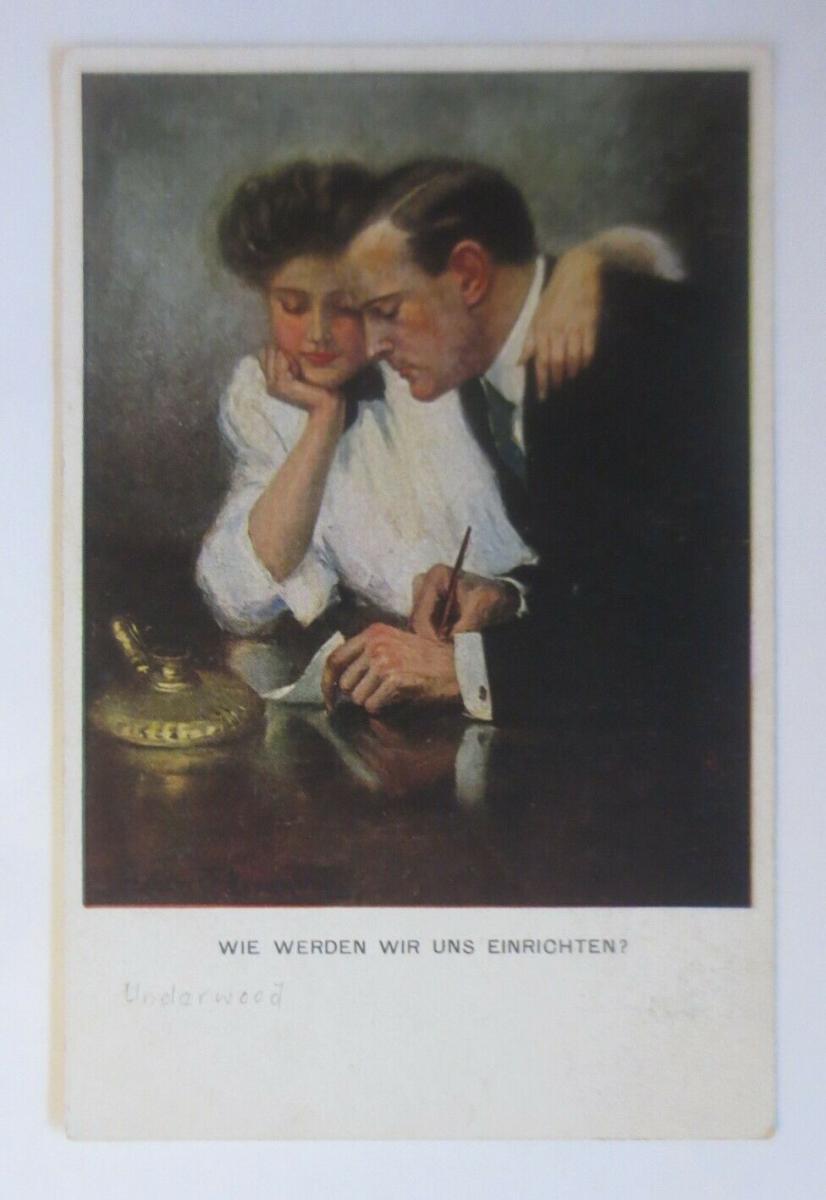 Künstlerkarte, Wie werden wir uns einrichten,  1918, Munk Vienne ♥ (20566) 0