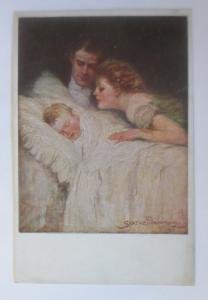Künstlerkarte, Familienglück,   1918, Munk Vienne ♥ (19468)