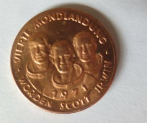 Medaille 1971 Deutschland Apollo 15 - Raumfahrt - Scott - Worden - Irwin♥(43464)