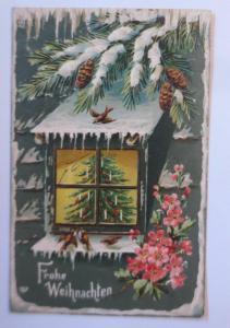 Weihnachten, Weihnachtsbaum, Tannenzapfen, 1907, Prägekarte♥ (67142)