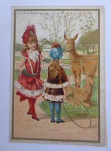 Kaufmannsbilder,  Au Bon Marche, Kinder, Mode, Reifentreiben,  1910 ♥
