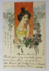 Jugendstil, Frauen, Mode,  Blumen,  1902 ♥  (57398)