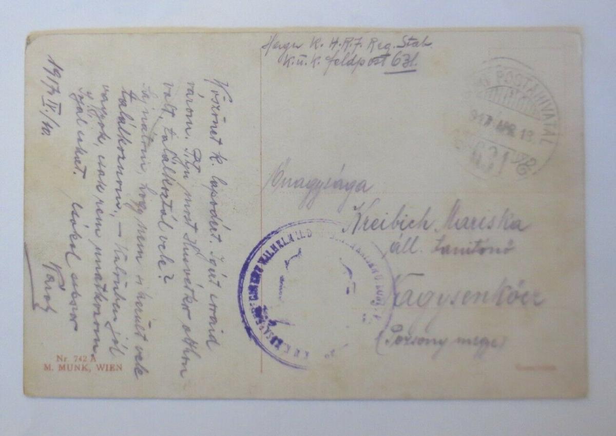 Künstlerkarte, Männer, Frauen, Tanzen, Ball, 1917, Munk Vienne  ♥ (23852) 1