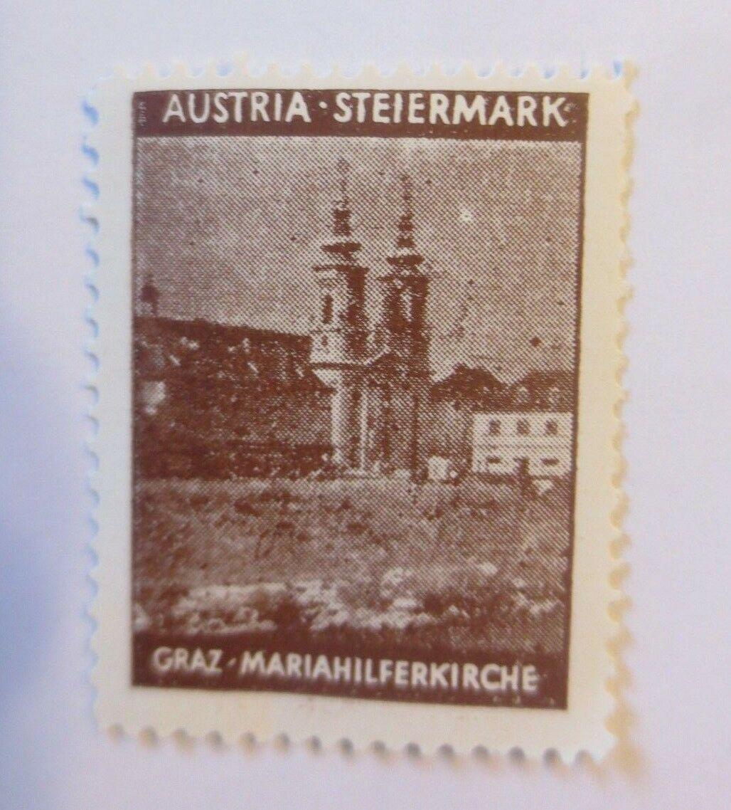 Vignetten, Österreich Steiermark Craz Mariahilferkirche 1914 ♥  (70463) 0