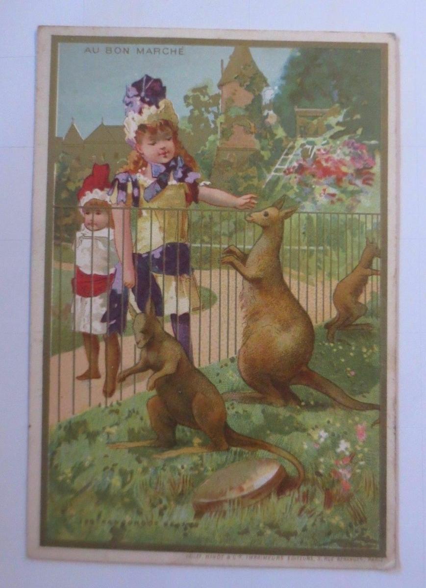 Kaufmannsbilder,  Au Bon Marche, Kinder, Mode,  Känguru 1910 ♥ 0