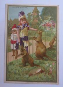 Kaufmannsbilder,  Au Bon Marche, Kinder, Mode,  Känguru 1910 ♥