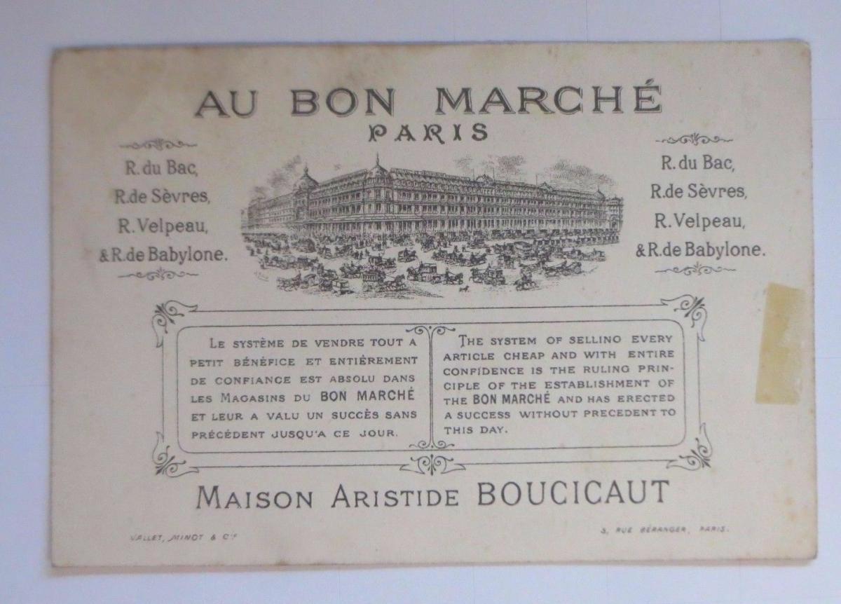 Kaufmannsbilder,  Au Bon Marche, Kinder, Mode,  Känguru 1910 ♥ 1