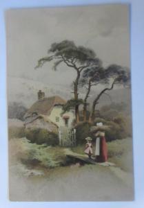 Künstlerkarte, Landschaft, Frauen, Kinder,  1900, Meissner & Buch  ♥ (19413)