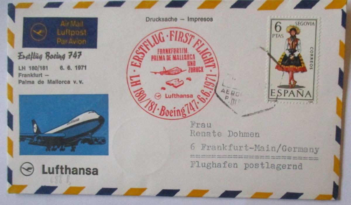 Lufthansa Erstflug Frankfurt - Palma de Mallorca 1971 (49665) 0