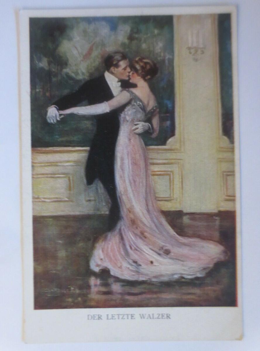 Künstlerkarte, Der letzte Walzer, 1920, Munk Vienne ♥ (19423) 0