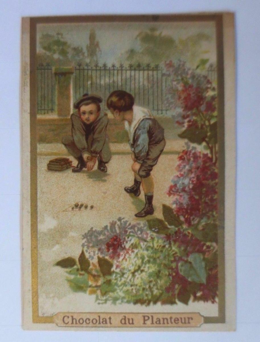 Kaufmannsbilder, Chocolat  du Planteur , Kinder, Spielen,    1910 ♥ 0