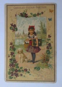 Kaufmannsbilder, Chocolat Guerin-Boutron , Kinder, Hund,    1910 ♥