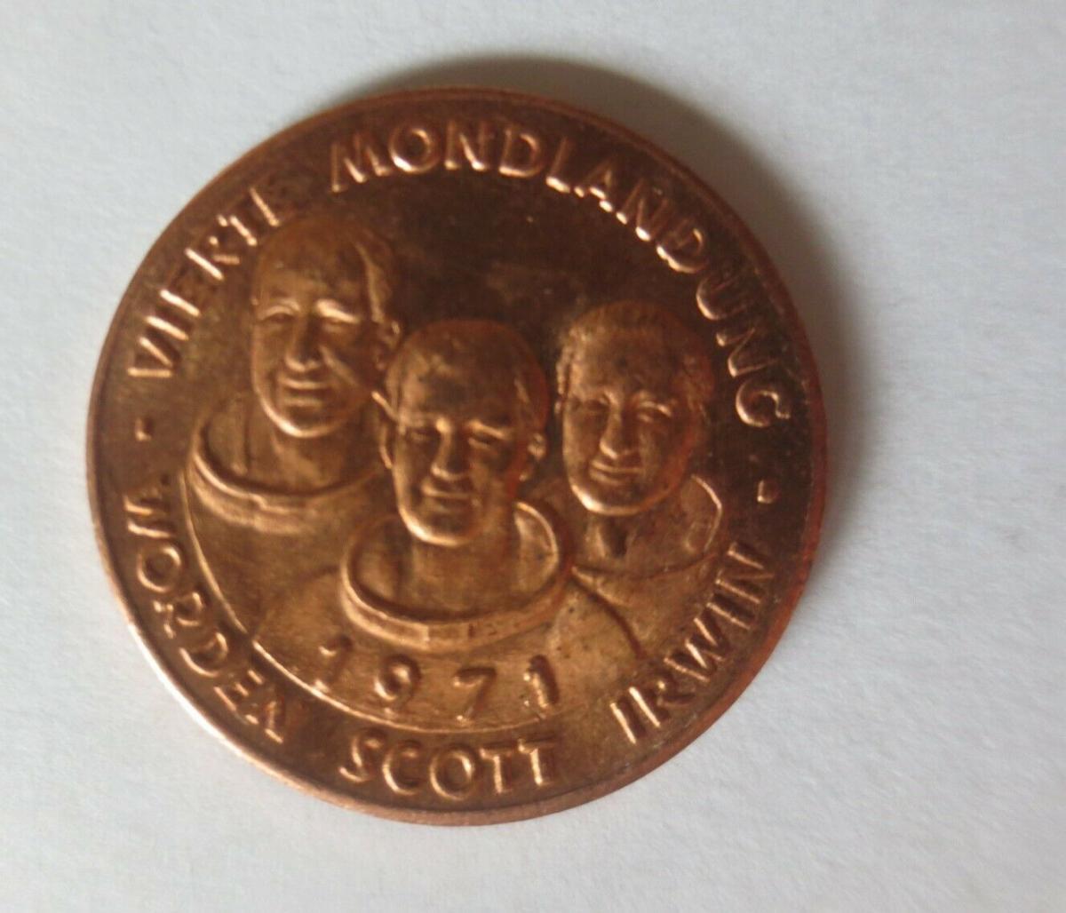 Medaille 1971 Deutschland Apollo 15 - Raumfahrt - Scott - Worden - Irwin♥(17803) 0