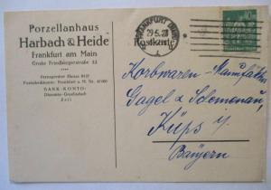 Porzellan, Werbung Reklame Harbach&Heide, Frankfurt 1923 (66683)