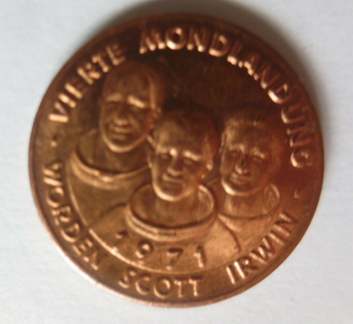 Medaille 1971 Deutschland Apollo 15 - Raumfahrt - Scott - Worden - Irwin♥(14500) 0
