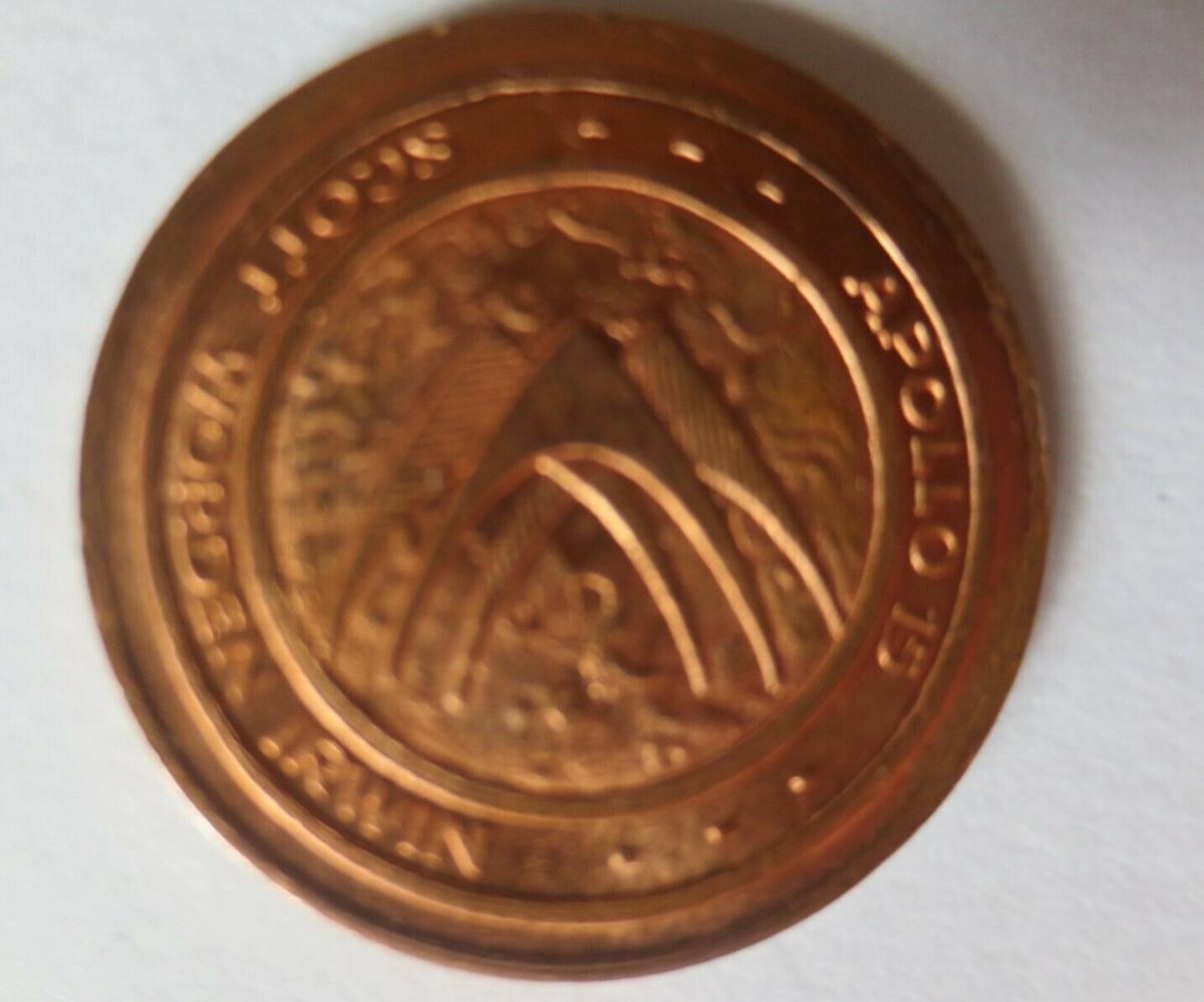 Medaille 1971 Deutschland Apollo 15 - Raumfahrt - Scott - Worden - Irwin♥(14500) 1