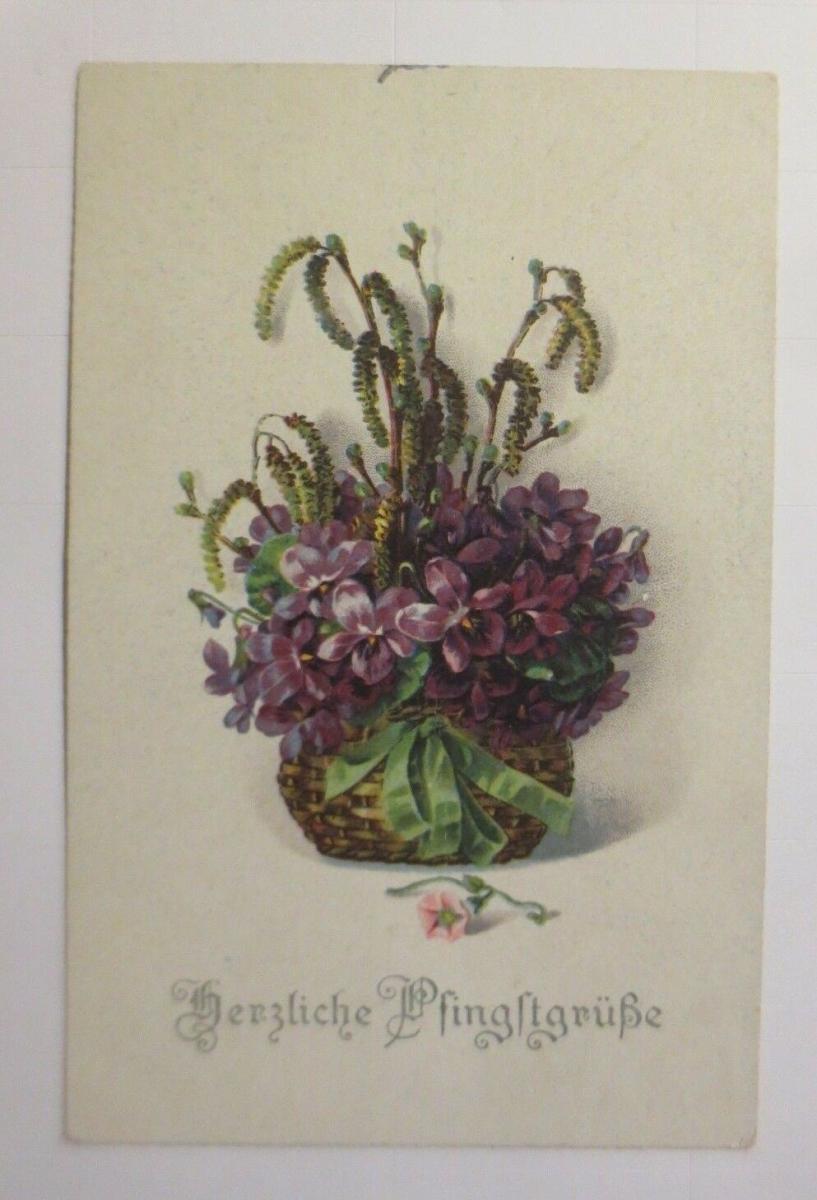 Pfingsten, Blumen, Veilchen,     1910  ♥ (71101) 0