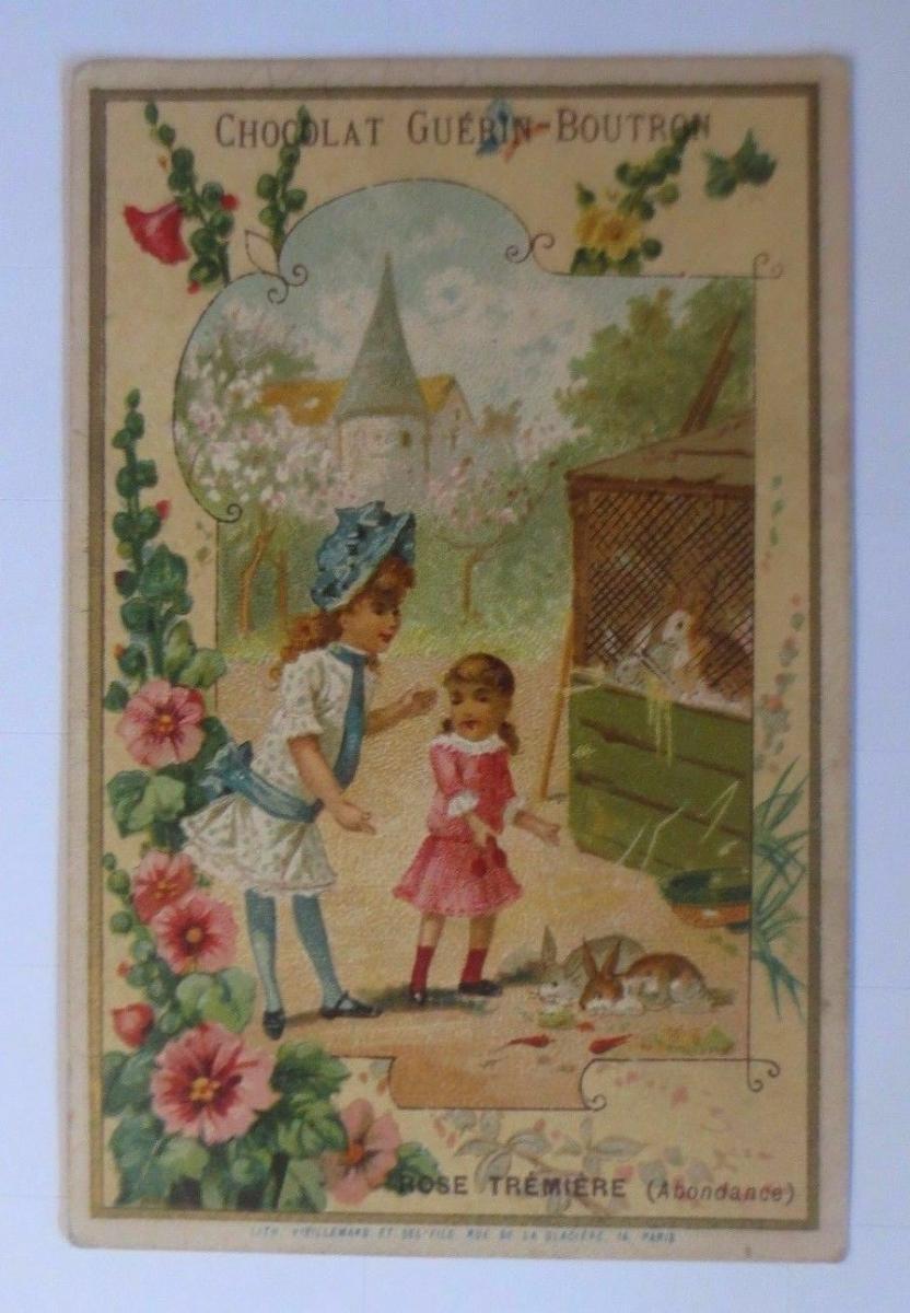 Kaufmannsbilder, Chocolat Guerin-Boutron, Kinder, Hasen,    1910 ♥ 0