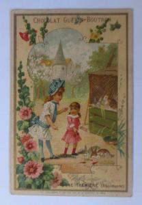 Kaufmannsbilder, Chocolat Guerin-Boutron, Kinder, Hasen,    1910 ♥