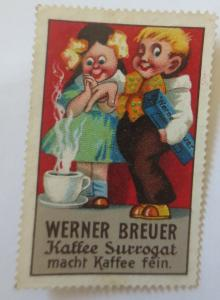 Vignetten Werner Breuer Kaffee Surrogat macht Kaffee fein  ♥ (9293)