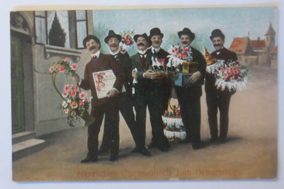 Geburtstag, Männer, Blumen, Sekt, Feiern,  1913 ♥ (27414) 0