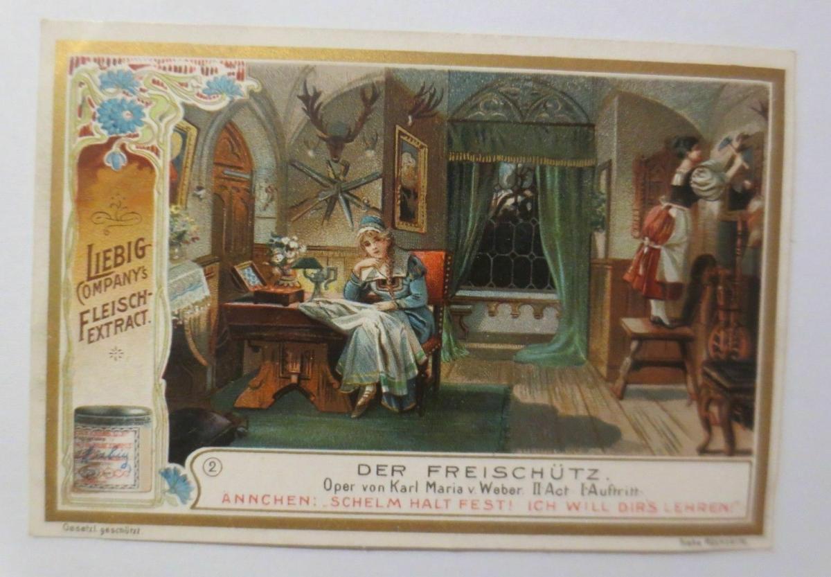 Liebig, Serie 495, Der Freischütz, Oper von Karl Maria v. Weber    ♥ 52898 0