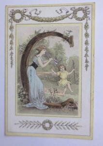 Kaufmannsbilder, Oblaten, C. Beriot, A. Lille,  Buchstaben  1845 ♥