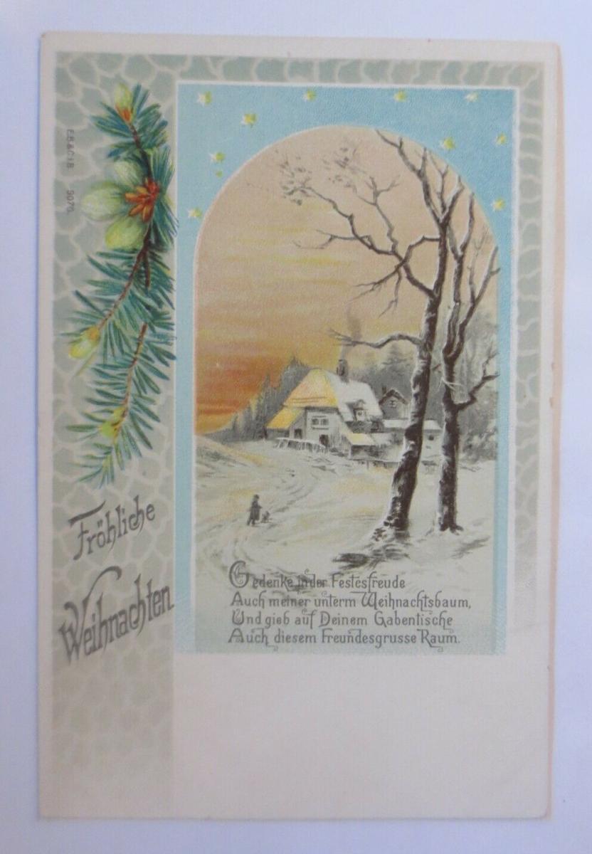 Weihnachten, Winterlandschaft,   1900 ♥ (22970) 0