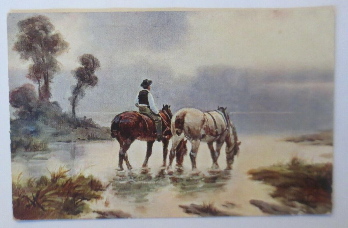 Pferde, Reiter, See,  1910 ♥ (28791) 0