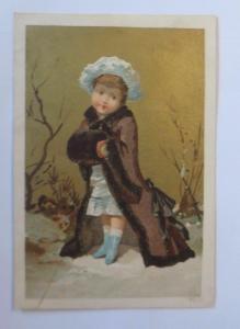 Kaufmannsbilder, F. Leuzinger, Kinder,  Mode, Muff,   1910 ♥