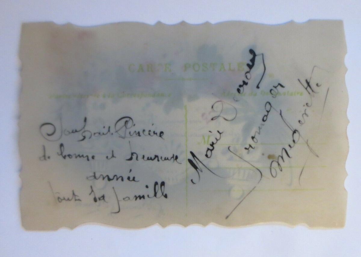 Handgemalt, Kunststoffkarte, Blumen, 1912 ♥ (25954) 1