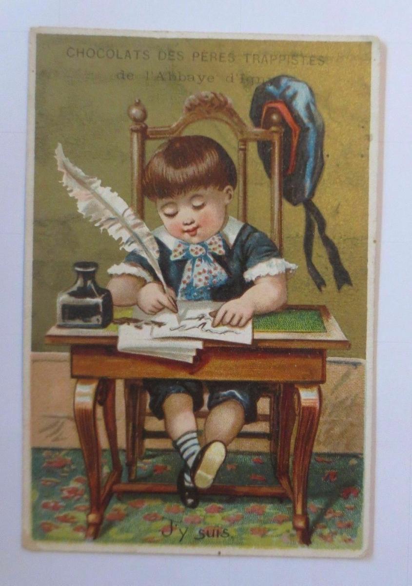 Kaufmannsbilder, Chocolats des Peres Trappistes, Kinder, Brief,  1910 ♥ 0