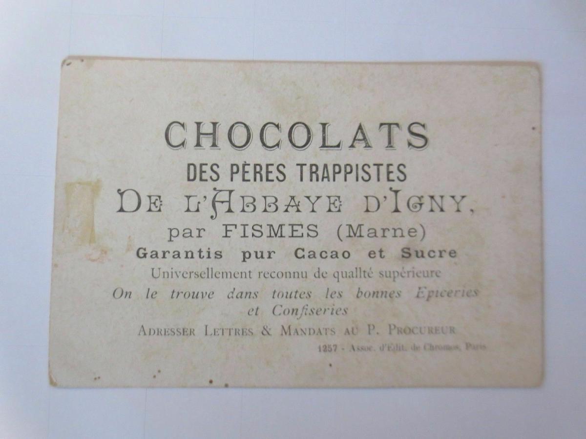 Kaufmannsbilder, Chocolats des Peres Trappistes, Kinder, Brief,  1910 ♥ 1