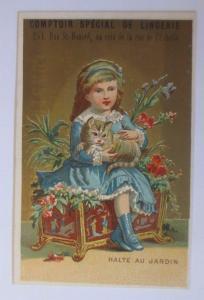 Kaufmannsbilder, Comptoir de Lingerie, Kinder, Spielzeug  1910 ♥