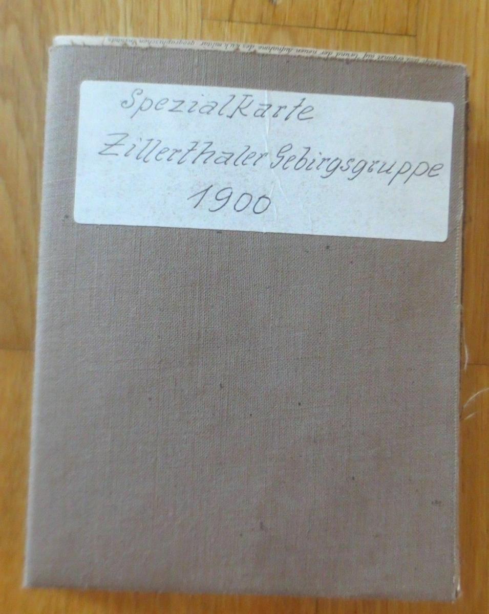 Landkarte, Spezialkarte Zillerthaler Gebirgsgruppe Jahr 1900  ♥ 0